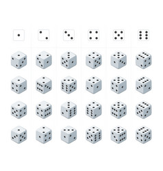 Set of isometric dice vector