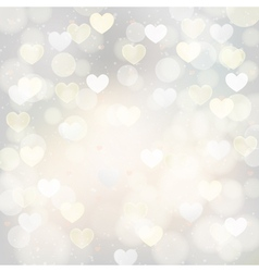 silver background with hearts vector image