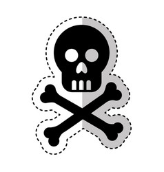 skull danger isolated icon vector image