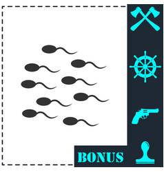 sperm icon flat vector image