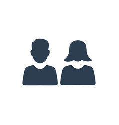 Students couple icon vector