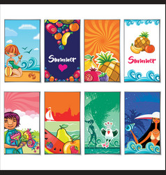 summer holiday templates vector image