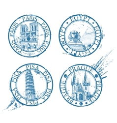 Travel stamps vector