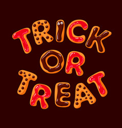 Trick or treat halloween gingerbread cookies on vector