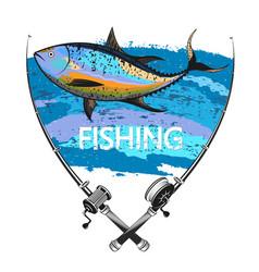 tuna fishing symbol vector image