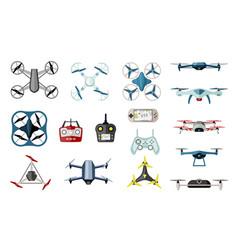 varieties quadrocopters and drones set futuristic vector image