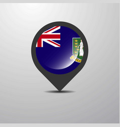 Virgin islands uk map pin vector