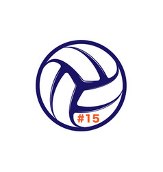 Volleyball player number vector