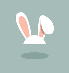 white bunny ear band icon for easter vector image