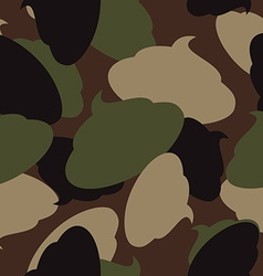 Army pattern of turd Military camouflage texture vector image