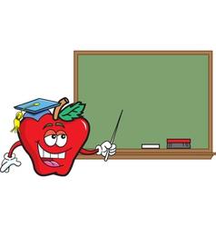 Cartoon teacher apple vector