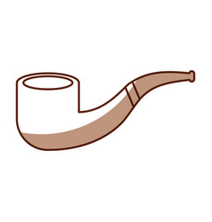 cute shadow smoke pipe cartoon vector image
