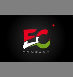 Ec e c alphabet letter logo combination icon vector