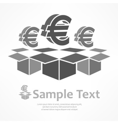 Euro signs in boxes vector image vector image