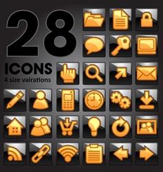 golden icon set vector image vector image