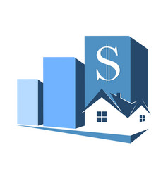 sale purchase and rental housing symbol vector image vector image