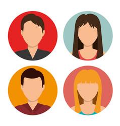 teamwork people company icon vector image