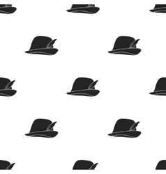 Tyrolean icon in black style isolated on white vector image