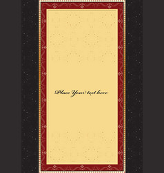 vintage background card for design vector image vector image