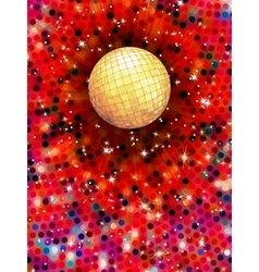 Colorful disco ball 3d EPS 10 vector image vector image