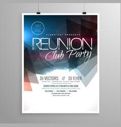 Event club party flyer template brochure design vector