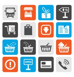 Flat Online shop icons vector image vector image
