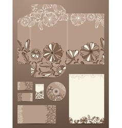 Flower Corporate Design vector image vector image