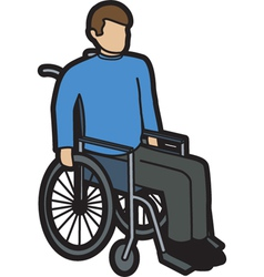 Man in wheelchair vector image vector image
