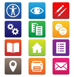 Mobile App Icons vector image vector image