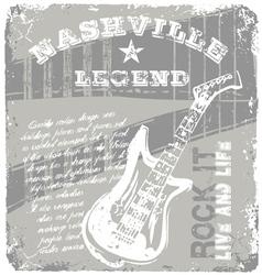 rock music legend vector image vector image