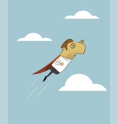 businessman is flying like superman vector image