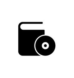 cd dvd box flat icon vector image