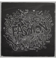 Fashion hand lettering On Chalkboard vector image