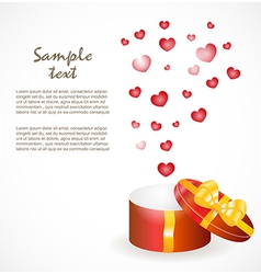Gift box with gold ribbons vector image vector image