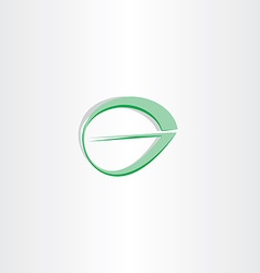 letter g green leaf stylized logotype vector image