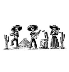 Day of the Dead Dia de los Muertos The skeleton vector image vector image
