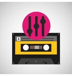 equalizer music cassette tape vector image