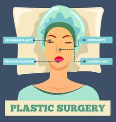 plastic surgery orthogonal flat background vector image vector image