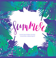 summer party jungle flyer vector image