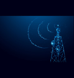 telecommunications signal transmitter radio tower vector image