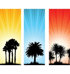 tree banners vector image
