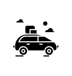 vehicle travel family car icon vector image
