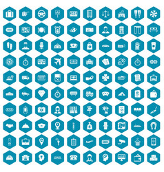 100 paying money icons sapphirine violet vector image