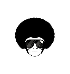 afro man design design flat vector image
