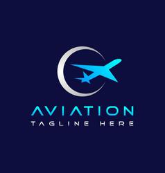 Air jet aviation logo design vector