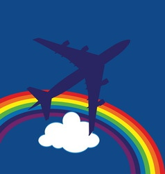 airplane7 vector image