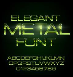 alphabet font vector image