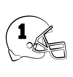 American football helmet isolated icon vector