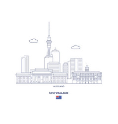 auckland city skyline vector image