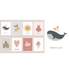 baby children little kids cards posters in vector image